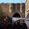 Gale force winds batter Lincoln Christmas Market