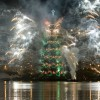 Launch of the World's Biggest Floating Christmas Tree