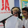 Hitting the airwaves at QEGS, Horncastle