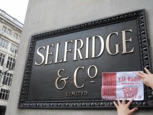 YJA Radio Poster at Selfridges