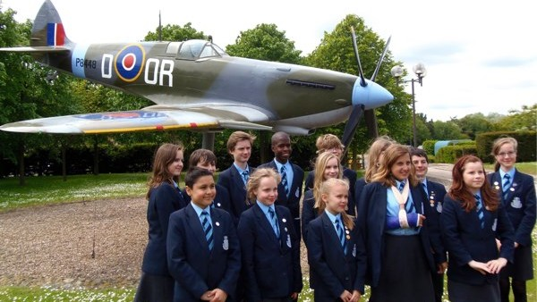 Pupils visit RAF Base