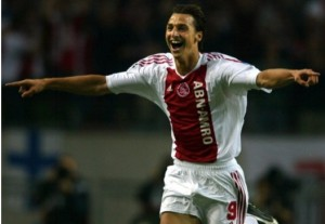 A young Ibrahimovic scores during his Ajax days