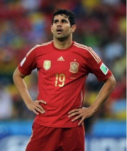 Diego Costa and Spain struggled at this year's World Cup