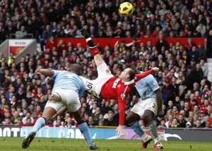 Wayne Rooney's legendary bicycle kick goal
