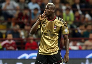 Balotelli was consistent in front of goal at AC Milan