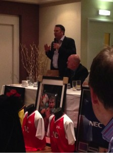 Paul Merson speaking at the Lincoln Holiday Inn thanks to seeitnowsport.com