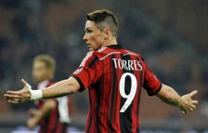 Although now playing for Madrid, Torres is officially remains an AC Milan player