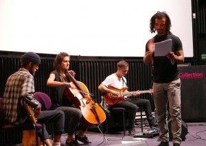 Akala sound-checking his unique performance of 'A Conversation with Freedom'