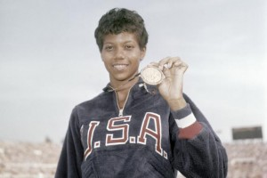The legendary, triple sprint gold medalist Wilma Rudolph