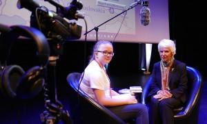 Eva Clarke with YJA reporter Katie