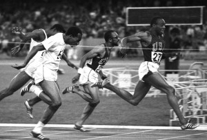 Jim Hines became the first human to cover 100m in less than 10 seconds