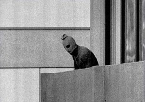One of the most infamous photos of all time, the Munich massacre